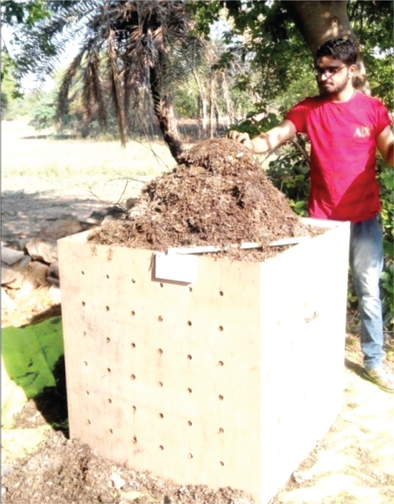 Figure 1: Bin designed for Vishishta composting