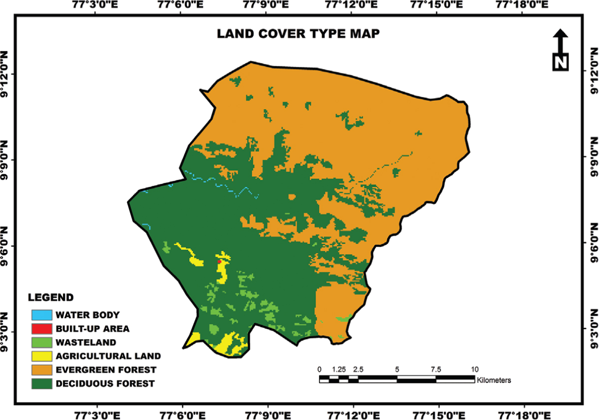 Figure 2: Land cover type map