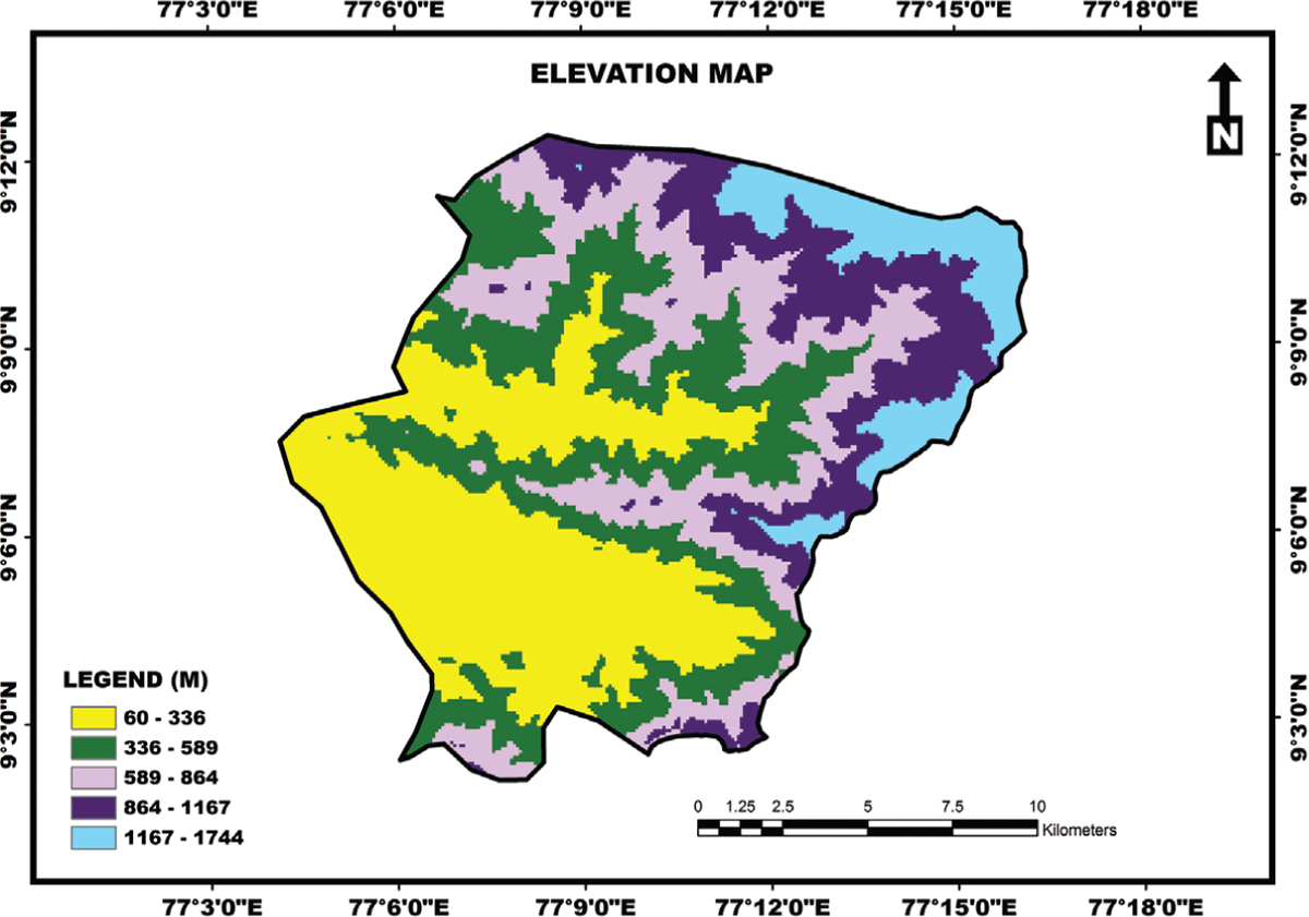 Figure 6: Elevation map