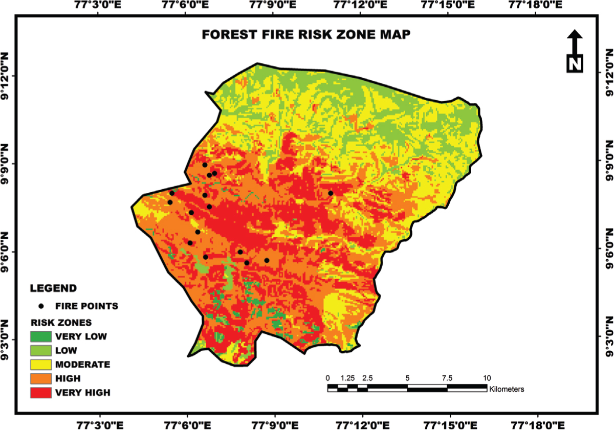 Forest Fire Risk Zone Mapping Using RS and GIS Techniques A Study